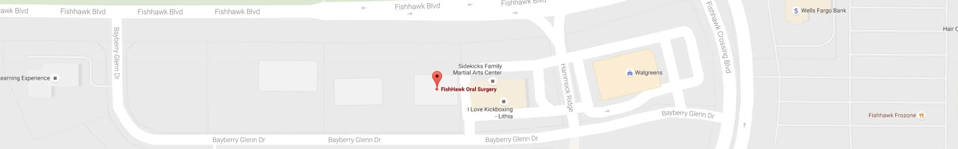Footer Map graphic Fishhawk Oral Surgery Lithia FL